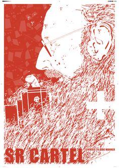 Tributo a Rene Wanner: SR CARTEL  Finn Nygaard. Dinamarca Bienal del Cartel Bolivia. BICeBé 2013