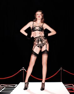 Demelza AW13/14 Campaign Image for Agent Provocateur featuring Sophie Cox Martini Boots