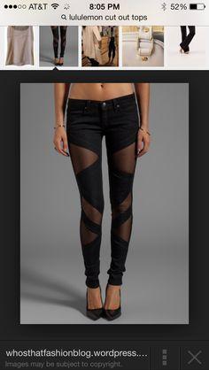 Love these peek a boo pants