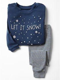 Holiday snow sleep set, I can't take the cuteness!