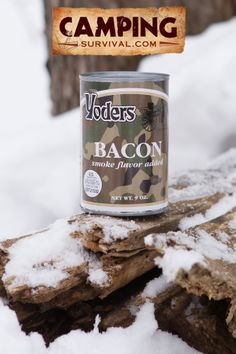 **Giveaway** Submit your email address at this link to sign up for our mailing list and enter to win a can of bacon. http://www.campingsurvival.com/giveaway.html  Yoders Canned Bacon http://www.campingsurvival.com/yodersbacon.html