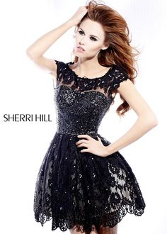 Sherri Hill 2957 - Lace Open Back Dresses - On Sale Now at RissyRoos.com