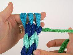 Finger crocheted icord scarf | Planet June