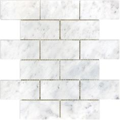 allen + roth Venatino Polished Subway Mosaic Marble Wall Tile (Common: 12-in x 12-in; Actual: 10-in x 12-in)