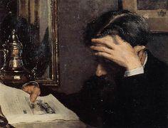 Georges Lemmen- Man Reading
