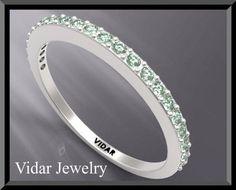 #vidarjewelryArtfire on Artfire                     #ring                     #Green #Sapphire #Half #Eternity #White #Gold #Woman #Wedding #Ring           Green Sapphire Half Eternity 14k White Gold Woman Wedding Ring                                          http://www.seapai.com/product.aspx?PID=199354