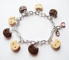 Steven Universe: Cookie Cat charm bracelet by SweetPandaFish