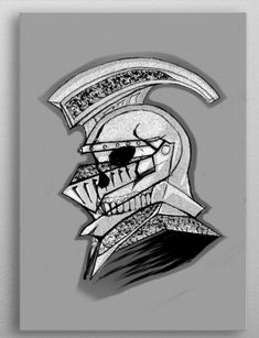 A illustration of a Skeleton Head with a helmet i design and made this Emblem just for you. Skeleton, My Design, Helmet, Poster Prints, Just For You, Symbols, Metal, Illustration, Stuff To Buy