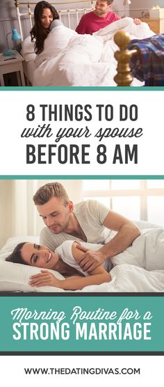 8 things to do with your spouse before 8 am. A morning routine for couples that will make you happier, more productive, and more in love! #morningroutine #miraclemorning