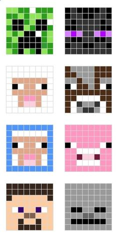 MINECRAFT PIXEL ART – One of the most convenient methods to obtain your imaginative juices flowing in Minecraft is pixel art. Pixel art makes use of various blocks in Minecraft to develop pic… Hama Beads Minecraft, Minecraft Crafts, Perler Beads, Pixel Art Minecraft, Minecraft Room, Minecraft Designs, Fuse Beads, Minecraft Quilt, Minecraft Templates