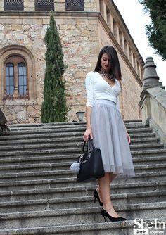 Grey Midi Dress - Style Gallery & Lookbook of SheIn us
