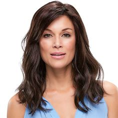 Rachel -  SMARTLACE COLLECTION by Jon Renau   These soft wavy layers embody the touch of warm breezes. With a lace front and hand tied monofilament cap, this SmartLace style looks and feels superbly comfortable.