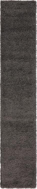 Graphite Gray Solid Shag Area Rug