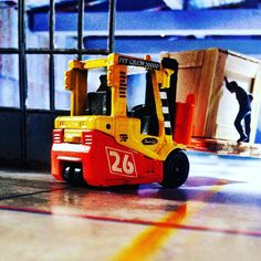 It's not safe, even when you're die cast :) #forklift