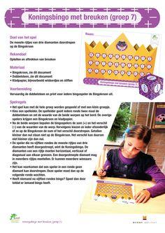 Koningsbingo met breuken - Menne Instituut - Met Sprongen Vooruit Msv, Stage, School