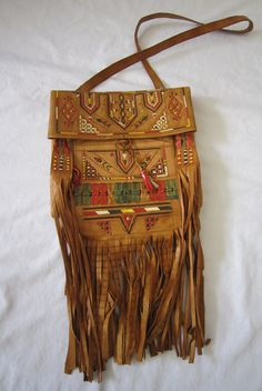 Boho Leather Bag, Morroccan