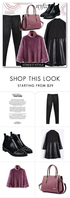 """""""Street Style Trend"""" by jecakns ❤ liked on Polyvore featuring StreetStyle, NYFW, Sweater, cozy and zaful"""