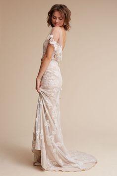 Ivory/champagne Sierra Gown   BHLDN