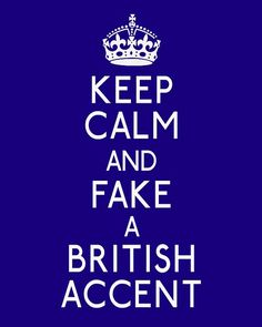 """LOVE this!!!!!!!!!!!! And because they say British I can choose """"my accent"""" or Glasgow or Sean Connery. Oh this is too exciting!"""