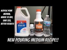 New pouring medium!!! Recipe for pouring medium with Links to buy material! DIY Pouring Medium - YouTube