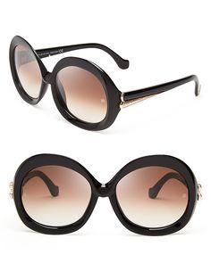 7dc9003247e Balenciaga Oversized Round Sunglasses Jewelry   Accessories - Sunglasses -  All Sunglasses - Bloomingdale s