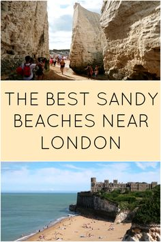 I visited a place called Broadstairs in Kent, England, and explored a whole bunch of beautiful sandy beaches, which are super close to London! I checked out Joss Bay, Kingsgate Bay and Botany Bay. Europe Beaches, Uk Beaches, Sandy Beaches, Kent England, London England, Places To Travel, Places To See, England Beaches, London Travel
