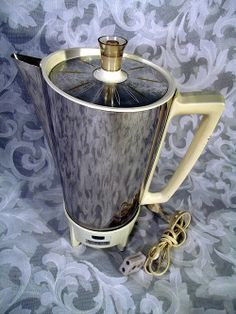 VINTAGE RETRO PRESTO SUPER SPEED ELECTRIC PERCOLATOR COFFEE MAKER #KK4A
