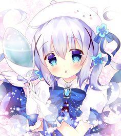 Your Anime Fix - Magical girl Chino [GochiUsa]. Anime Oc, Chica Anime Manga, Anime Neko, Anime Eyes, Anime Angel Girl, Anime Art Girl, Loli Kawaii, Kawaii Anime Girl, Lolis Neko