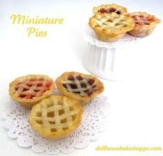 So cute - and something else to use those ubiquitous muffin tins for! If you like this idea, visit Lindsey Anne at the Dollhouse Bake Shoppe for even more delicious ideas.