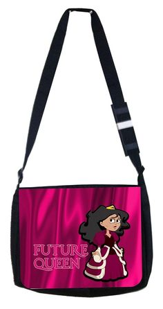 Future queen pink Rosie Parker Inc. TM Medium Sized Laptop Messenger Bag 11.75' x 15.5' >>> Click image for more details. (This is an Amazon Affiliate link and I receive a commission for the sales)