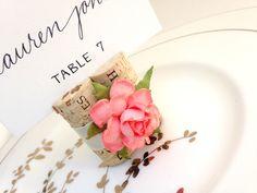 vineyard wedding place card holder
