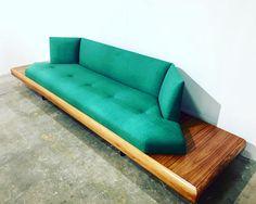 Mid Century Modern Adrian Pearsall Platform Sofa Velvet