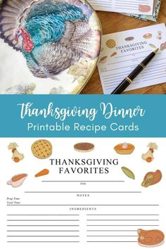 Share your favorite Thanksgiving recipes with friends and family using these free printable recipe cards. This is a great way to share your favorite Thanksgiving traditions and foods with people if you can't be together in person. Thanksgiving Traditions, Thanksgiving Crafts, Diy Party, Party Ideas, Recipe Card Boxes, Printable Recipe Cards, Fall Diy, Shelf Ideas, Cool Diy Projects