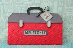 This and That: Created using Pretty Paper, Pretty Ribbons Mr. Fix It Gift Card Holder Cutting Files