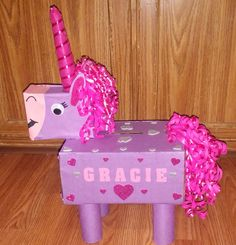 30 Adorable DIY Unicorn Valentines Boxes Ideas - Bailee News Valentine Boxes For School, Kinder Valentines, Unicorn Valentine, Valentines Day Holiday, Valentine Day Crafts, Valentine Ideas, Valentine Party, Valentine Nails, Valentinstag Party