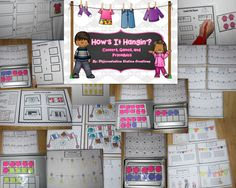 How's It Hangin'? Clothes and Laundry Themed Differentiated Math Centers. Kindergarten, First Grade, Special Education, Homeschool, RTI.  $