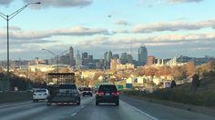 Driving into Cincinnati