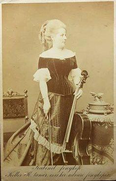 Szuk Róza (1844-1921) hungarian cello artist, circa 1877.