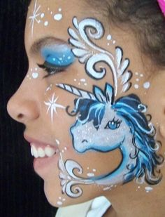 Image result for white unicorn face paint