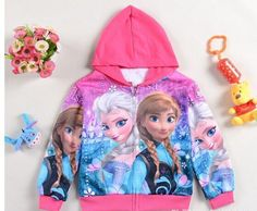 Best Quality Frozen Girl Anna Elsa Princess Hoodies Jacket Zipper Coat Girl Anna Elsa Princess Hoodies Frozen A250 h At Cheap Price, Online Children's Hoodies & Sweatshirts | Dhgate.Com