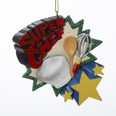 "#decor Resin "" #Super Chef"" Ornament Made In China"