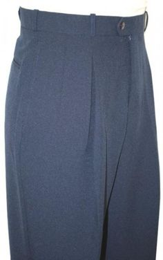 1920s Mens Clothing Pleated Wide Leg Pants Wool-feel Navy Blue Mens TrousersSlacks Cheap $59.00 AT vintagedancer.com