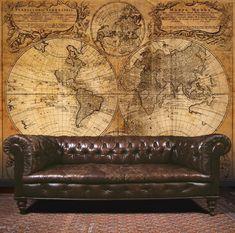 Essener Mural Wallpaper G45253 Steampunk Map Room Wall Panel Photo Fleece in Home, Furniture & DIY, DIY Materials, Wallpaper & Accessories   eBay #homefurniturecouches