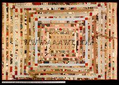 Crib Quilt, Cotton Prints, Circa 1860-70'