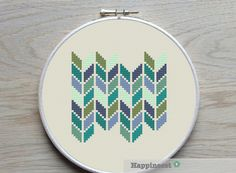 modern cross stitch pattern, geometric chevron, PDF ** instant download** by Happinesst on Etsy