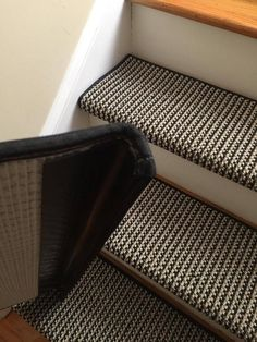 Black Jack New Zealand Wool! – TRUE Bullnose™ Carpet Padded Stair Tread Runner Replacement for Style, Comfort and Safety (Sold Each) - black carpet Carpet Staircase, Carpet Stair Treads, Staircase Runner, Wall Carpet, Diy Carpet, Carpet Ideas, Cheap Carpet, Carpet Manufacturers, Carpet Padding