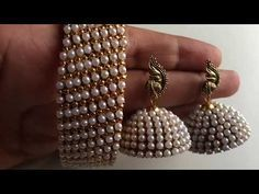 How to make silk thread jewellery set pearl set earrings and bangles Silk Thread Earrings Designs, Silk Thread Bangles Design, Silk Bangles, Bridal Bangles, Thread Jewellery, Diy Jewellery, Jewellery Designs, Swarovski Jewelry, Beaded Jewelry