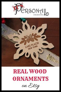 Laser cut and engraved real wood snowflake ornaments can be personalized any way you want. Christmas ornaments make great Christmas gifts for anyone! Click to see more beautiful tree ornament designs! Custom orders gladly accepted. wood ornaments, christmas ornaments, christmas decor, christmas decorations, for ornament exchange, stocking stuffers, inexpensive christmas gifts, ornament gifts for family, newlywed ornament, first christmas, for coworker, for friend, for sister, for wife