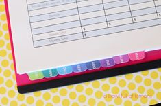 A very organized budgeting binder to keep household finances in order.