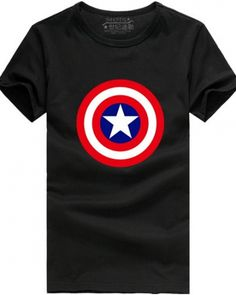Captain America theme t shirt printed Shield plus size cotton tee for boys- Captain America Shield, Wild Style, Plus Size T Shirts, Cotton Tee, Printed Shirts, Superhero, Tees, Fabric, Prints